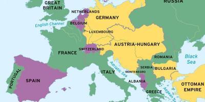 Zwitserland Kaart In De Kaart Van De Wereld Kaart Van