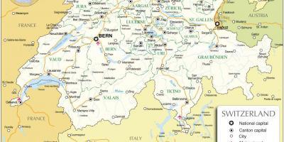 Zwitserland Kaart Kaarten Zwitserland West Europa Europa